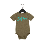 SELF LOVE | BABY SHORT SLEEVE ONE PIECE [OLIVE]
