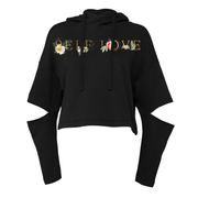 SELF LOVE + CONNOR RAY | CUT OUT FLEECE HOODIE