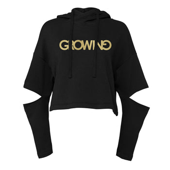 GROWING | CUT OUT FLEECE HOODIE