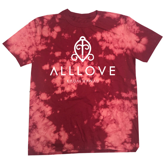 ALLLOVE MISSION TEE | RED BLEACH OUT [W]