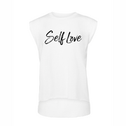 SELF LOVE MANTRA | ROLLED CUFF TEE