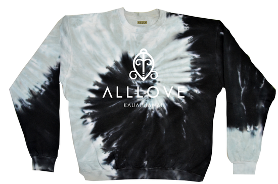 ALLLOVE | *SPIRAL OF LIFE* TIE DYE PULLOVER [M]