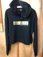 ALLLOVE BOX | CROP FLEECE HOODIE