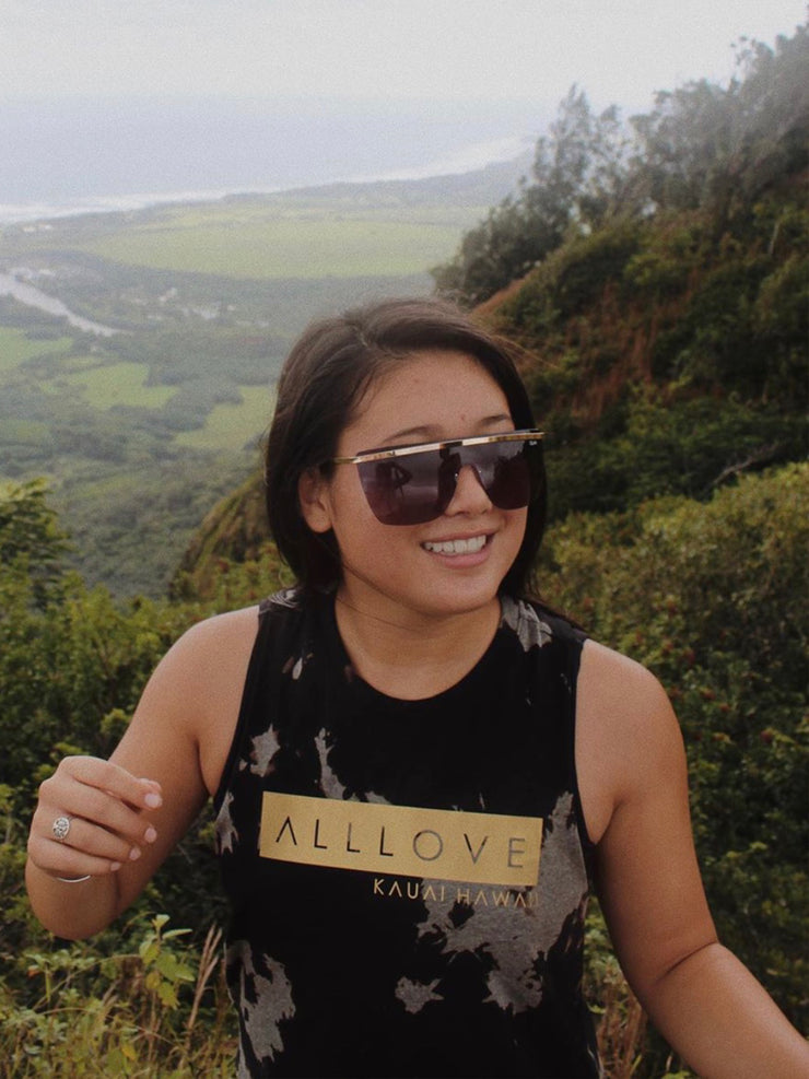 ALLLOVE BOX | BLACK BLEACH OUT RACERBACK