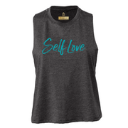 SELF LOVE MANTRA | CROPPED RACERBACK TEE