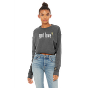 got love? | CROP FLEECE PULLOVER