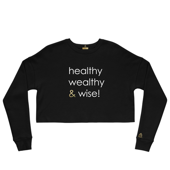 healthy wealthy & wise | CROP FLEECE HOODIE