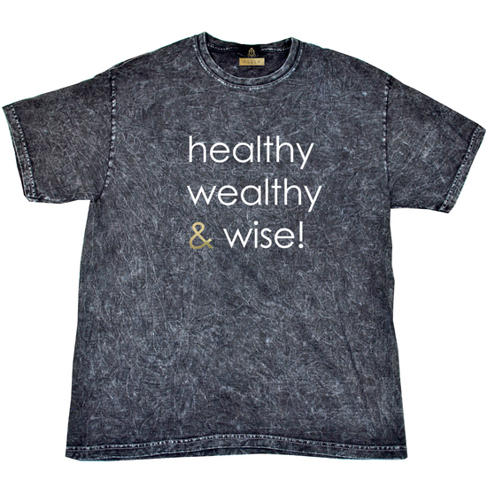 healthy wealthy & wise | MINERAL WASH UNISEX T-SHIRT [M]