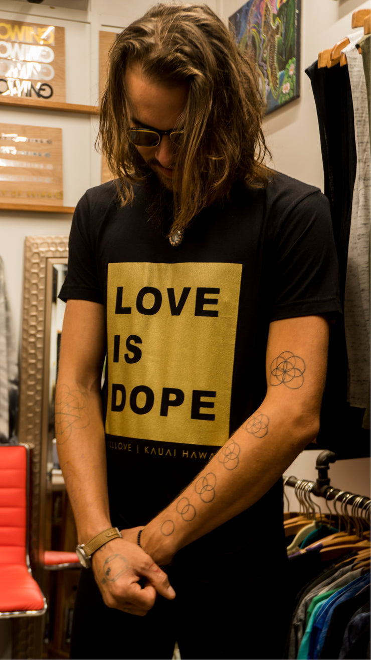 LOVE IS DOPE | GOLD MISSION T-SHIRT