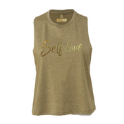 SELF LOVE MANTRA | CROPPED RACERBACK *GOLD EDITION*