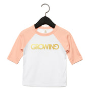 GROWING | TODDLER BASEBALL TEE [PINK]