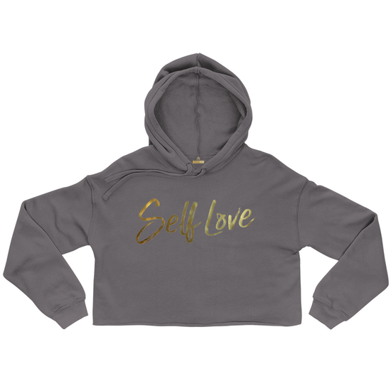 SELF LOVE | ORIGINAL CROP FLEECE HOODIE