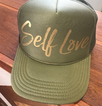 SELF LOVE | GOLD ON SAGE