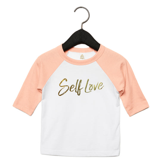 SELF LOVE | TODDLER BASEBALL TEE [PINK]