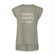 healthy wealthy & wise | ROLLED CUFF TEE