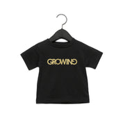 GROWING | BABY JERSEY SHORT SLEEVE TEE [NOIR]