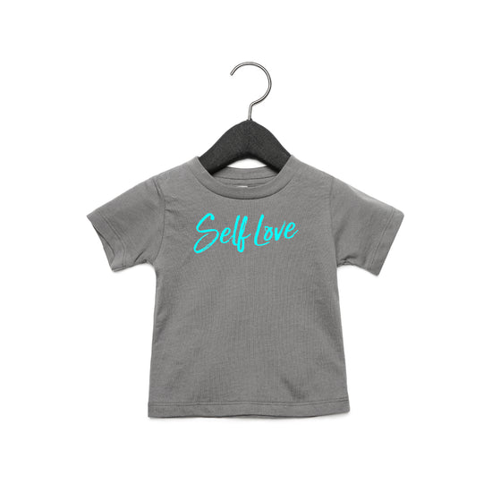 SELF LOVE | BABY JERSEY TEE [COSMIC GREY]