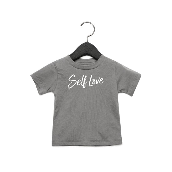 SELF LOVE | TODDLER JERSEY TEE [COSMIC GREY]
