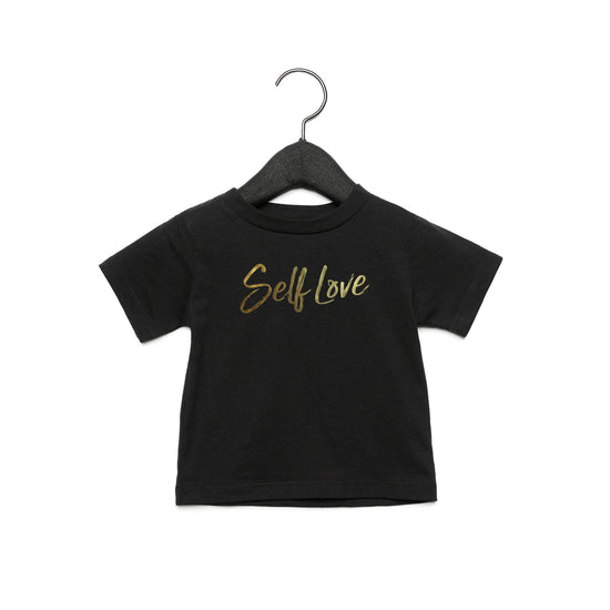 SELF LOVE | TODDLER JERSEY TEE [NOIR]