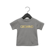 GROWING | BABY JERSEY SHORT SLEEVE TEE [COSMIC GREY]
