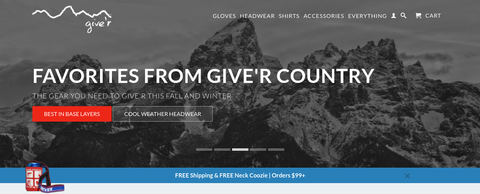 Give'r Homepage