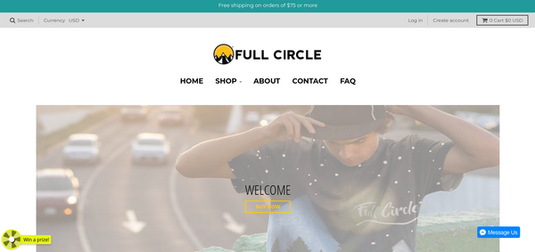 Full Circle Clothing Homepage