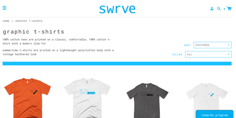 Swrve Clothing Website