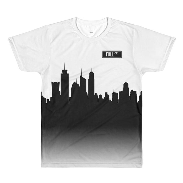 Full Circle City Skyline Silhouette Graphic Tee, Unisex - Full Circle Clothing Company