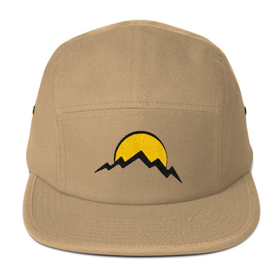 Sun and Mountain Five Panel Cap Flat Brim Hat