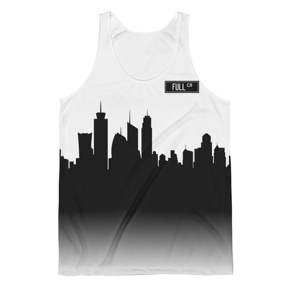 Full Circle City Skyline Silhouette Graphic Tank, Unisex - Full Circle Clothing Company