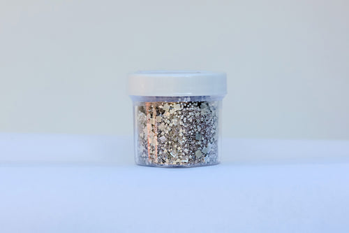 "Bakery Bling™  ""5th Avenue"" Blinged-Out Metallic Silver Glittery Sugar™"