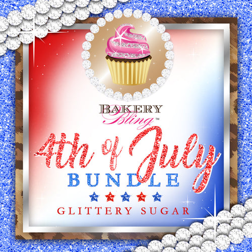 4th of July Bakery Bling™ Glittery Sugar™ Bundle