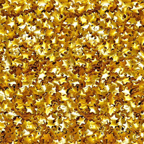 Bakery Bling™ Metallic Gold Stars Glitter
