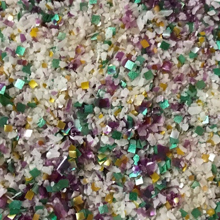 Little Waisted™ Mardi Gras Salt Glittery Glass Glitz™