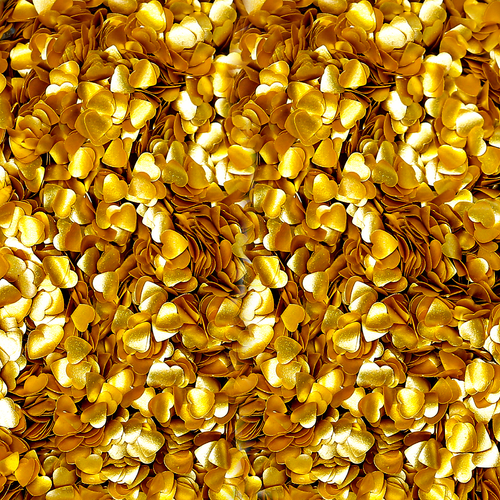 Bakery Bling™ Metallic Gold Hearts Glitter