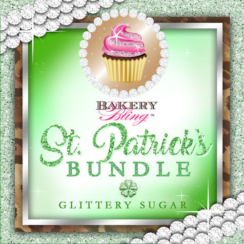 St. Patricks Day Bakery Bling™ Glittery Sugar™ Bundle