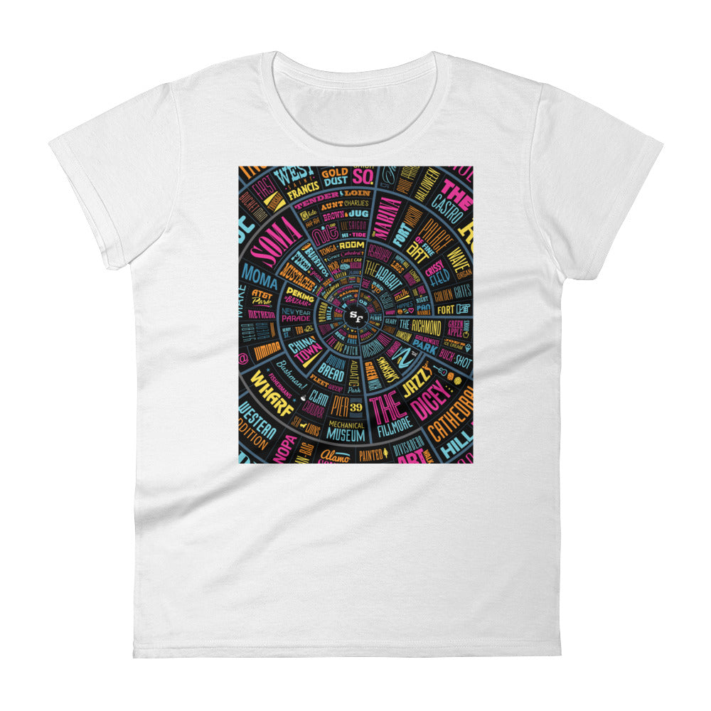 Women's short sleeve t-shirt - SF type wheel design