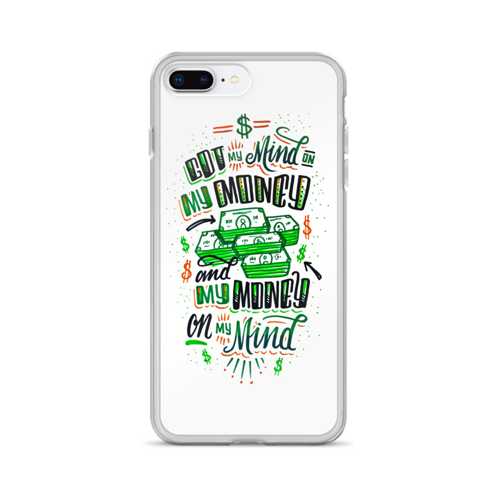 Mind on my Money - WHITE iPhone Case - all sizes