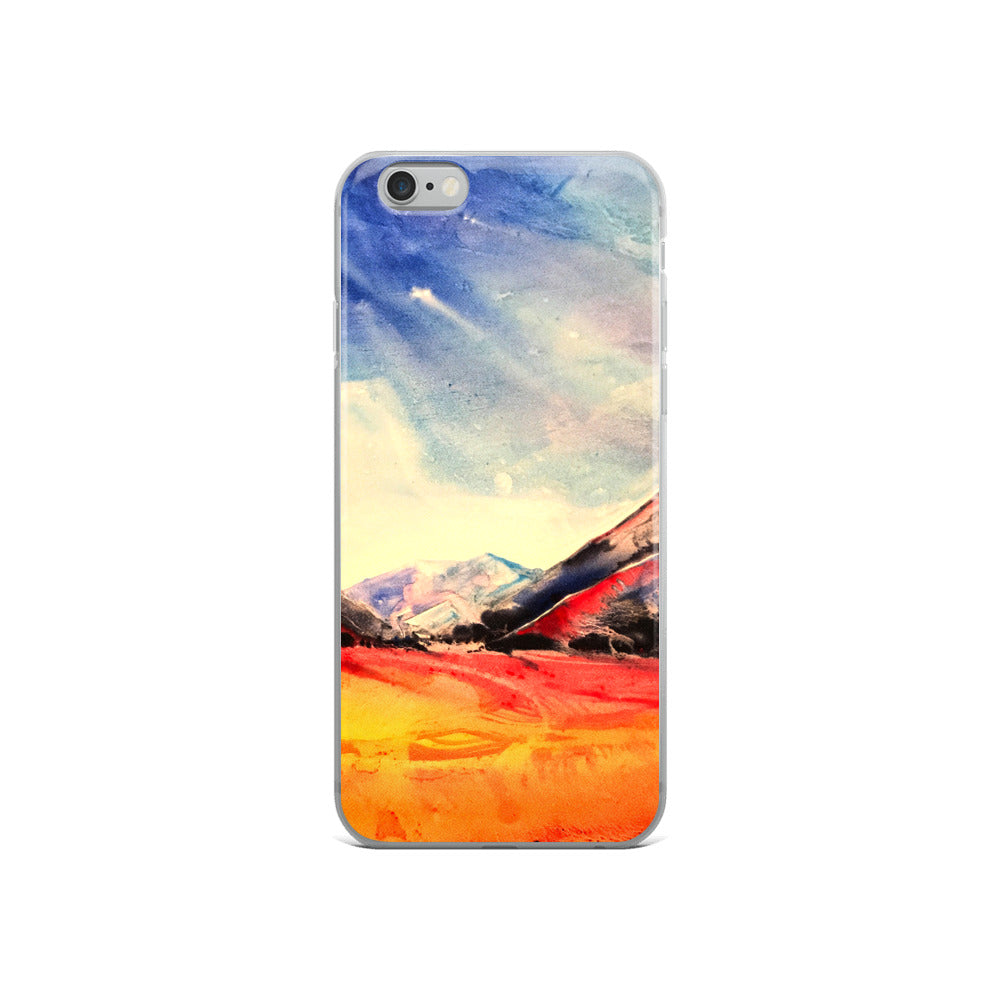Water Color Landscape iPhone Case