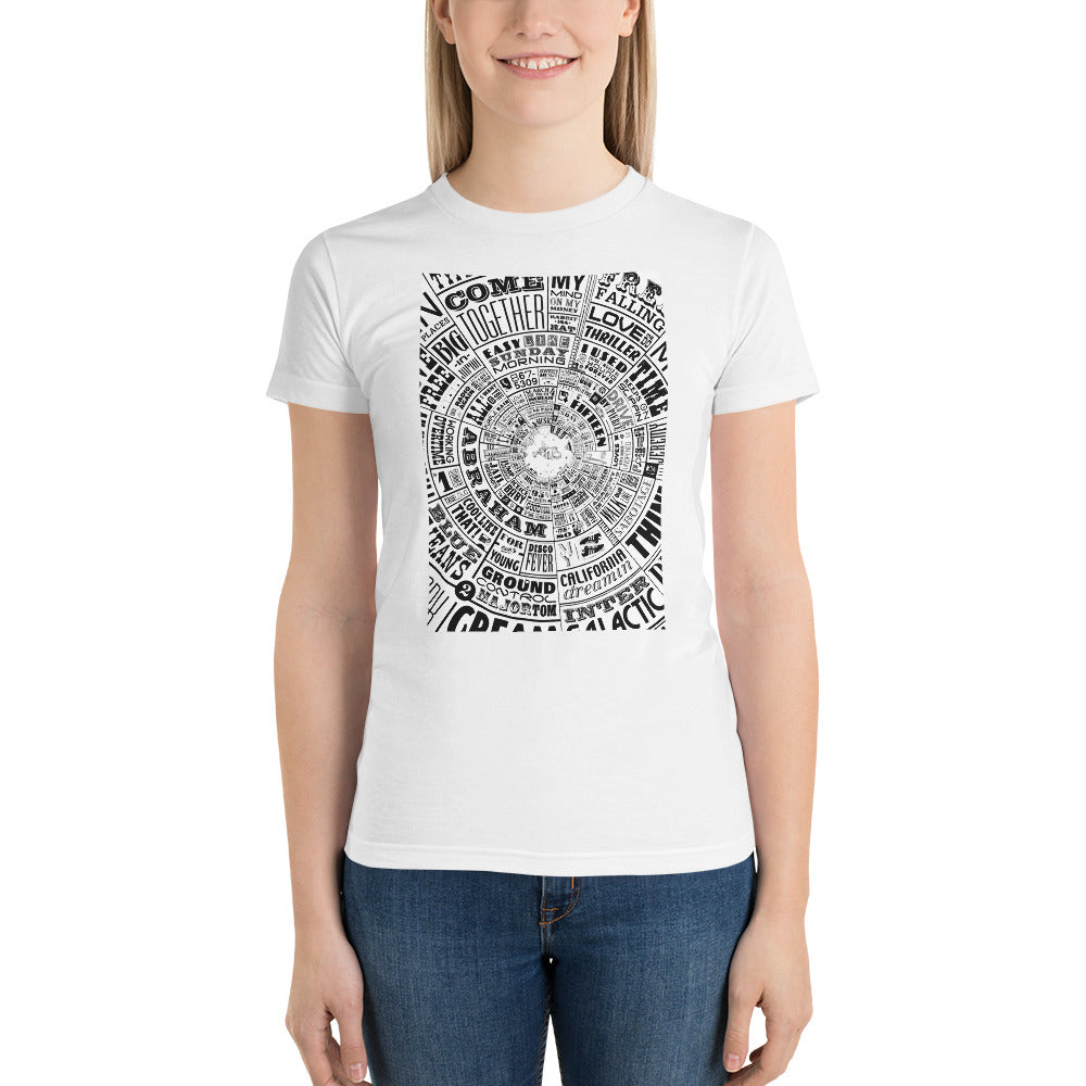 Musical Type wheel Design - Women's t-shirt
