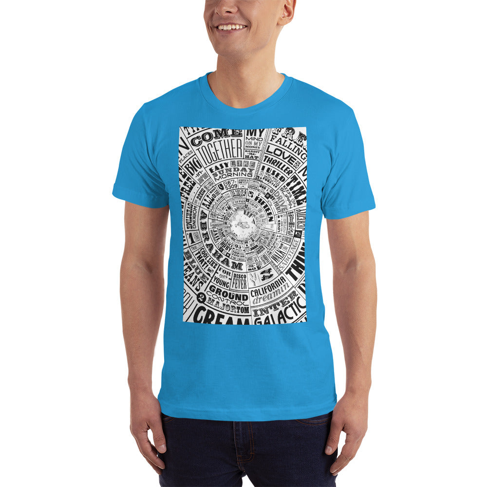 Musical Type wheel Design - Men's T-Shirt