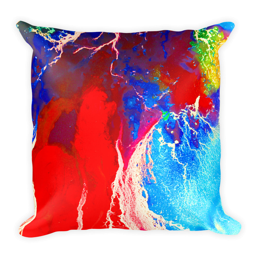 Water Color Abstract 2 - Square Pillow