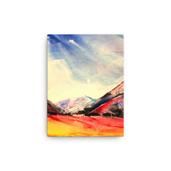 Water Color Landscape Canvas