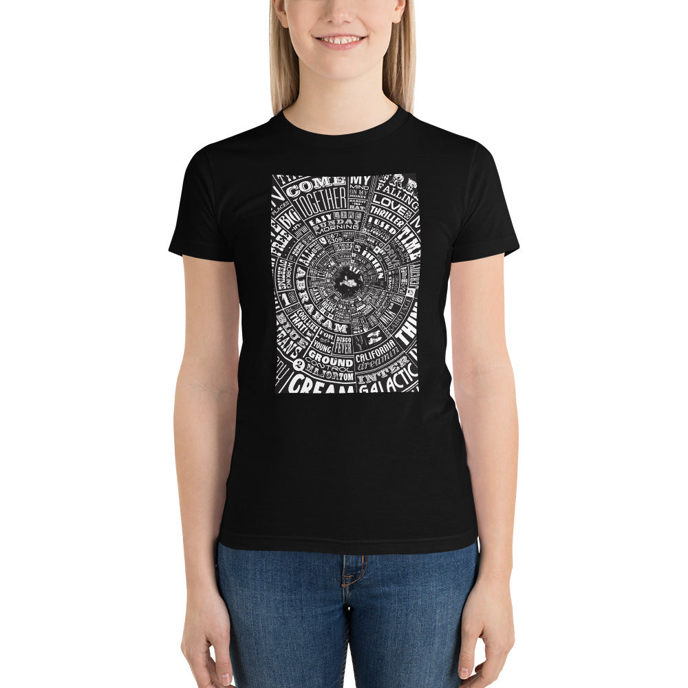 Musical Type Wheel - Women's t-shirt
