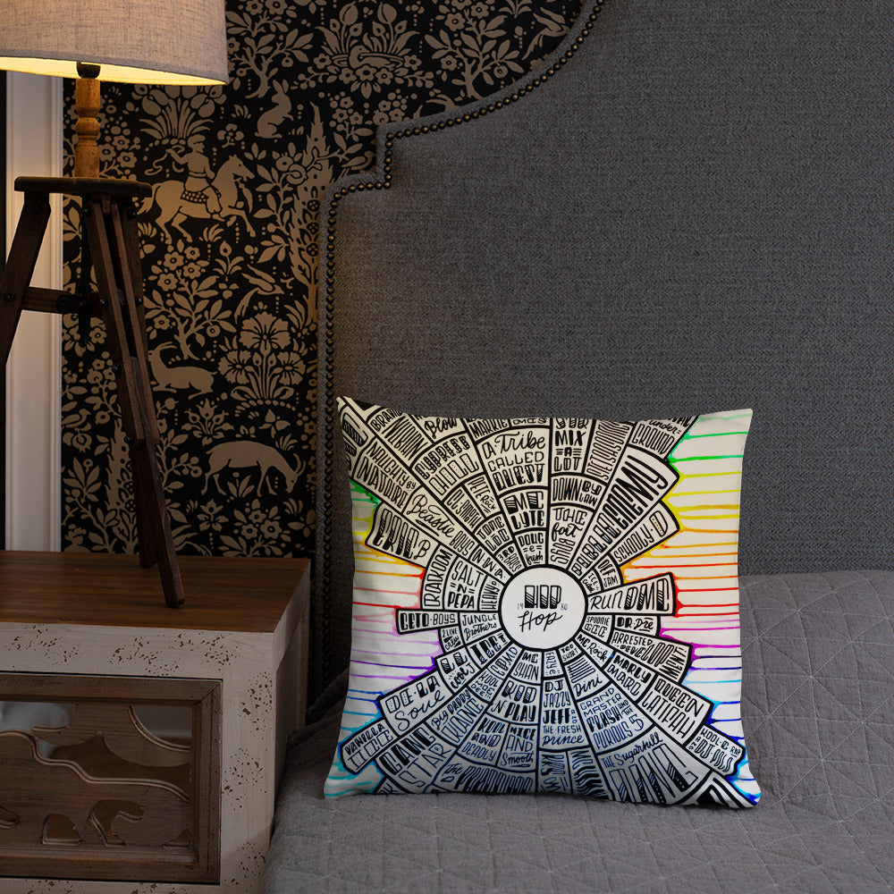 Hip-Hop - type design - Basic Pillow