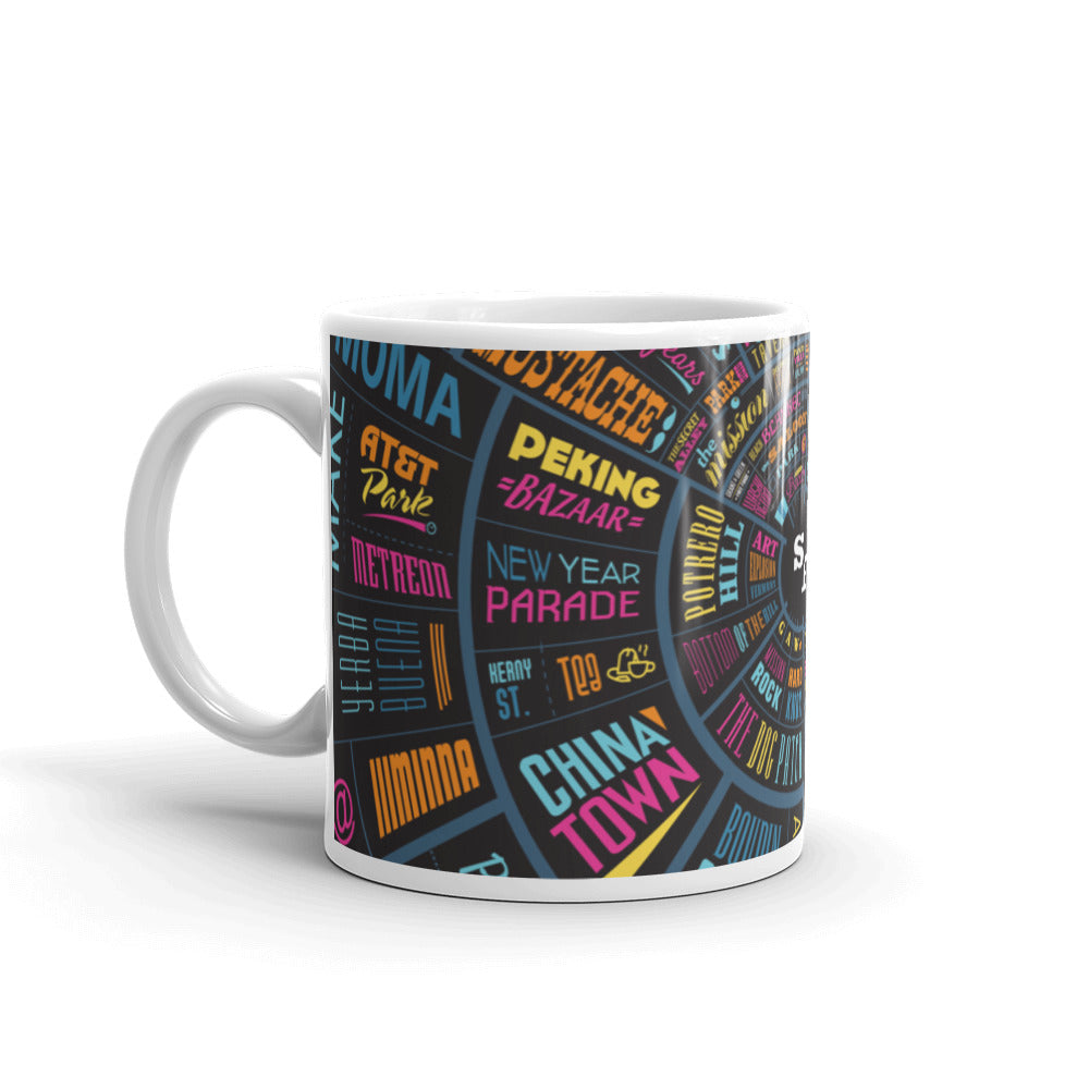 San Francisco Type Wheel Mug