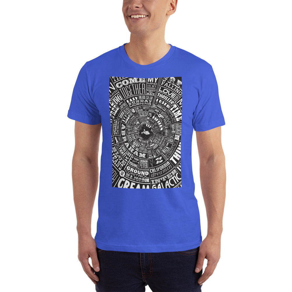 Musical type wheel - Men's T-Shirt