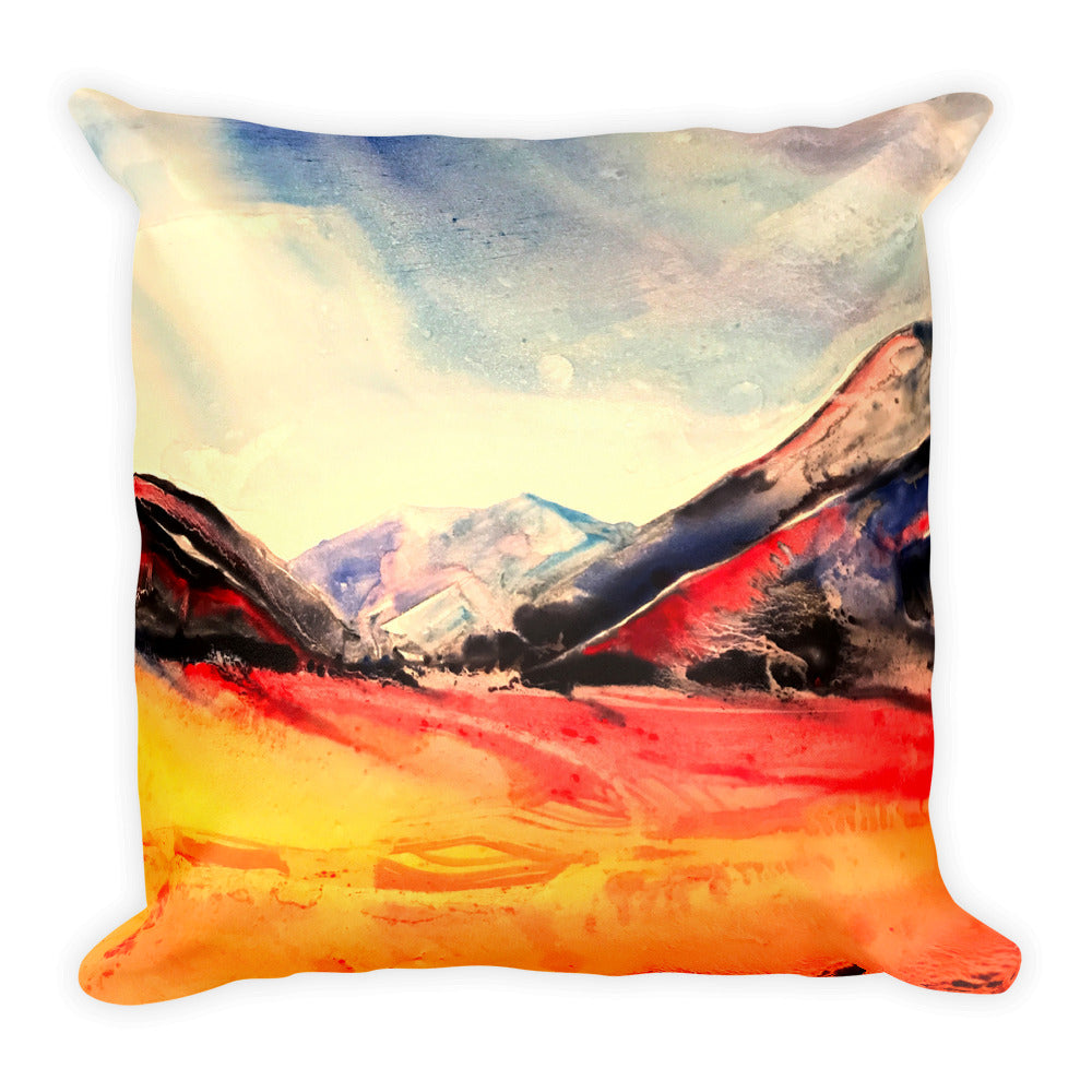 Water Color Landscape - Square Pillow