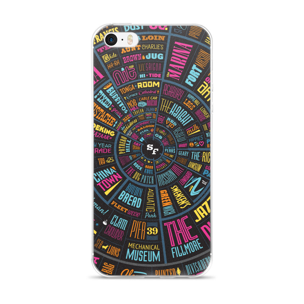 San Francisco Type Wheel - iPhone Case