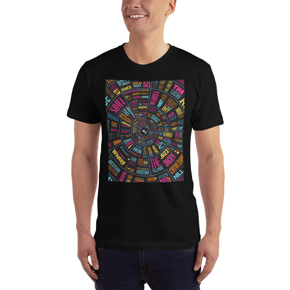 San Francisco Type Wheel - Men's T-Shirt
